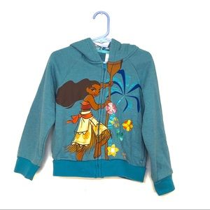 Moana Disney Embroidered Sweatshirt Size Kids 4